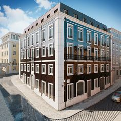 Architectural rendering of apartments in Lisbon