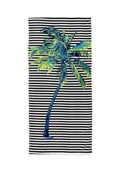 Striped Palm Tree Beach Towel | Forever 21 | #f21home
