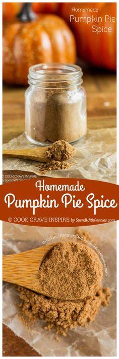 Easy Homemade Pumpkin Pie Spice! This pumpkin pie spice recipe is a blend of…
