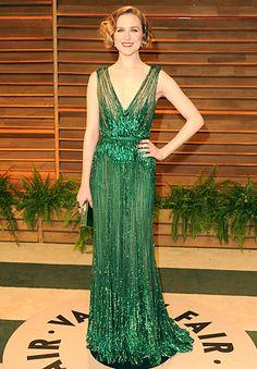 Evan Rachel Wood: 2014 Vanity Fair Oscar Party. Now THIS is a glamorous vintage 20's-inspired look!