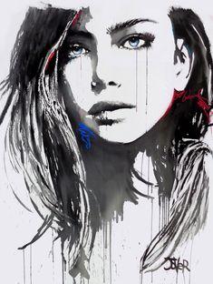 Loui Jover - Drawings for Sale Art Sketches, Art Drawings, L'art Du Portrait, Lily Painting, Drawing Artist, Human Art, Arte Pop, Magazine Art, Art Auction