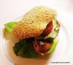 Burger med kylling
