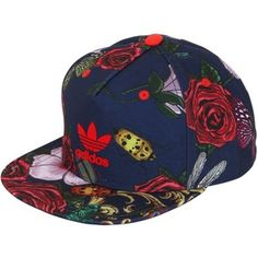 ADIDAS ORIGINALS BY RITA ORA Floral Printed Baseball Hat - Red Blue Adidas  Baseball Cap 3a317d160b4