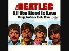 July 1967 - The Beatles single 'All You Need Is Love / Baby You're A Rich Man' (originally called 'One Of The Beautiful People') was released in the US. It became The Beatles US Beatles Singles, Beatles Album Covers, Beatles Albums, Beatles Poster, Colbie Caillat, Counting Crows, Christina Perri, Chris Tomlin, Country Couples
