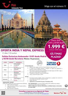 ¡Últimas plazas! Oferta India y Nepal Express. Precio final desde 1.999€ - http://zocotours.com/ultimas-plazas-oferta-india-y-nepal-express-precio-final-desde-1-999e/