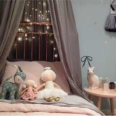 Little Dwellings, Interior Designer For Children. Girl's room with bed canopy.