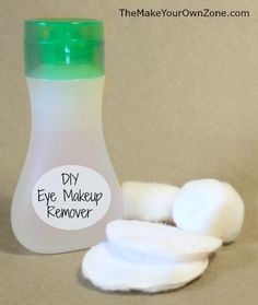DIY Eye Makeup Remover - make your own eye makeup remover for only pennies per batch!