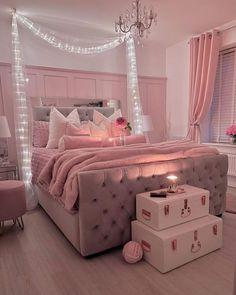 Teen Bedroom Designs, Bedroom Decor For Teen Girls, Cute Bedroom Ideas, Room Design Bedroom, Room Ideas Bedroom, Decor Home Living Room, Home Decor, Cozy Room, Aesthetic Bedroom