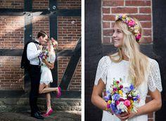 Blumenkranz Brautstrauß