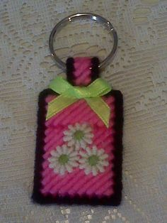 """Pink & White """"Flowers"""" Hand Made Keychain"""