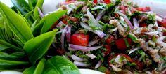 Incredible tea leaf salad at Ban Rak Tai.