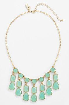 NWT $98 Kate Spade New York Riviera Garden Mini Bib Necklace Giverny Blue Green  #KateSpade #Bib
