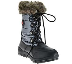 Walk in your own winter wonderland with these Cougar snow boots. Page 1 QVC.com