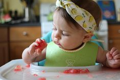 baby led weaning watermelon 6 months
