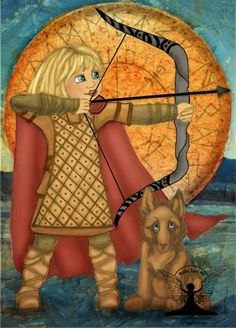 This is the Norse goddess Skadi illustrated as a child.