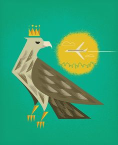 Crowned Eagle City-scape