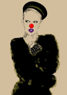 by Agnieszka Sukiennik, via Behance Different Art Styles, Fashion Art, My Arts, Behance, Sketches, Wellness, Poses, Clowns, Fashion Illustrations