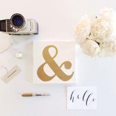 diy: gold foil ampersand