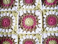 "Things to knit : Crochet: ""Granny square blanket"""