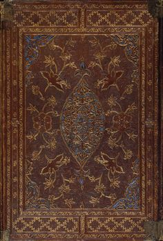 Book Binding (Переплет книги) | Place of creation: Iran | Material: leather | Technique: stamped and gilded | Date: Late 14th - early 15th century; Hermitage, St Petersburg