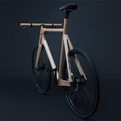 Designer basé à Amsterdam, Paul Timmer a créé un vélo en bois de frêne massif équipé de pièces en aluminium imprimées en 3D. Pesant seulement 11 kg, le vél
