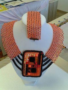 arjadne / sieťovaný náhrdelník