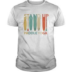 Stand Up Paddle Yoga Vintage Retro Art T-Shirts, Hoodies, Sweaters