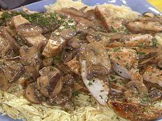 Chicken with Wild Mushroom and Balsamic Cream Sauce recipe from Rachael Ray via Food Network