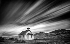 Old church still standing in a ghost town in Alberta Canada from fineartamerica.com