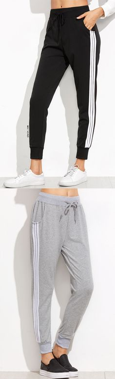 Striped Side Sweat Pants