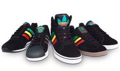 0ebae80cfc300 Reggae legend Bob Marley was known for rocking adidas and the label plays  on that fact to create the Rasta Pack inspired his culture and religion.  Five sne