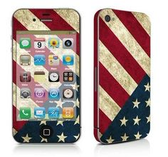 Vintage American flag iPhone cover