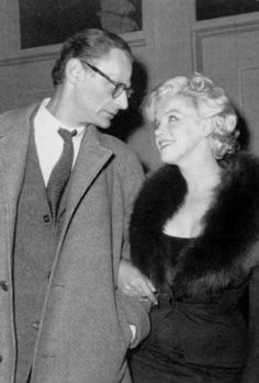 Marilyn Monroe and Arthur Miller at a private screening of Some Like It Hot, February 5, 1959.