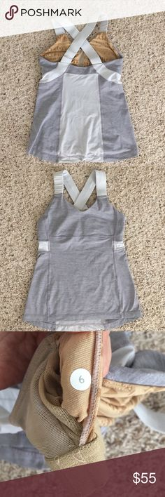 Lululemon tank Repost Grey and off grey size 6 tank. It doesn't fit me as expected. lululemon athletica Tops Tank Tops