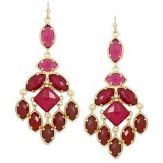 Viola Chandelier Earrings in Vogue - Kendra Scott Jewelry ❤ liked on Polyvore
