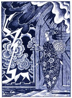 Kay Nielsen -Bash-Chalek; or, True Steel The Heavens seemed to be on fire