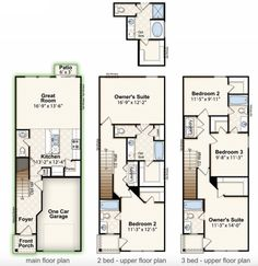 SAVANNAH B || Square Feet: 1,301 || Bedrooms: 2-3 || Full Baths: 2 | Half Baths: 1 || Stories: 2 || Garage: 1-Car