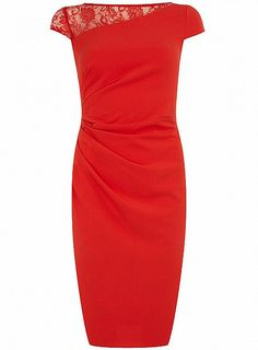 Red Lace Shoulder Dress by Dorothy Perkins  $50 approx