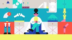 It's a baffling world out there when it comes to health insurance. We helped to add some clarity (and color) to the topic with this spot for Bridgespan. E Motion, Motion Video, Illustrations, Flat Illustration, Frame By Frame Animation, Animation Reference, Health Insurance, Motion Design, Going To Work
