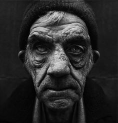 Another stunning homeless portrait by Lee Jeffries. Bringing attention to the ravages of poverty.