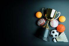golden trophy football toy baseball toy ping pong ball shuttlecock