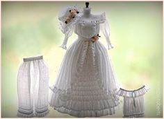 1:12th scale miniature Edwardian display clothing by Monica Roberts
