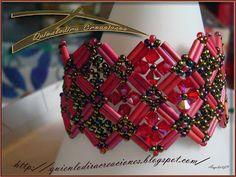 Quienlodira Creaciones: Pulsera Paris Rojo-Rosa