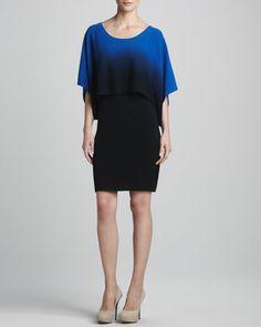 in CASHMERE Drop-Waist Ombre Cashmere Dress - Neiman Marcus