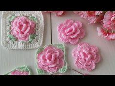 Çiçek motif /Bebek battaniyesi /Koltuk şalı - YouTube Crochet Edging Patterns, Crochet Squares, Baby Knitting Patterns, Crochet Motif, Crochet Doilies, Crochet Flowers, Knit Crochet, Granny Square Blanket, Diy Arts And Crafts