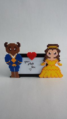 Picture Frame - Beauty and the Beast perler beads by BurritoPrincess