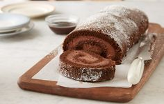 chocolate mousse cake roll