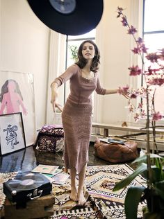 they made the greatest picture together. It shows at least three things that I love: Charlotte Kemp Muhl, a great Odd Molly. Vinyl Record Art, Vinyl Music, Vintage Vinyl Records, Vinyl Art, Odd Molly, Lps, Kemp Muhl, Wow Photo, Audio Music