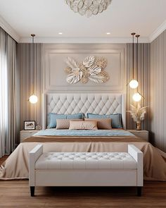 Modern Luxury Bedroom, Luxury Bedroom Design, Master Bedroom Interior, Room Design Bedroom, Luxury Rooms, Bedroom Furniture Design, Luxurious Bedrooms, Home Decor Bedroom, Interior Design