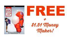 FREE + $1.21 Money Maker for Big Hero 6 DVD At Walmart! | Get FREE Samples by Mail | Free Stuff